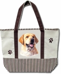 Dog Breed Tote Bag - Labrador Yellow