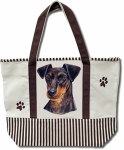 Dog Breed Tote Bag - Manchester Terrier