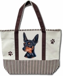 Dog Breed Tote Bag - Miniature Pinscher