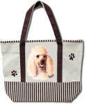 Dog Breed Tote Bag - Poodle honey