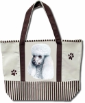 Dog Breed Tote Bag - Poodle White