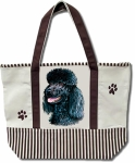 Dog Breed Tote Bag - Poodle Black