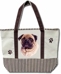 Dog Breed Tote Bag - Pug