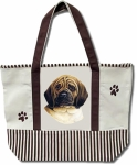 Dog Breed Tote Bag - Puggle
