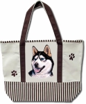 Dog Breed Tote Bag - Siberian Husky