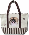 Dog Breed Tote Bag - Tibetan Spaniel