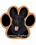 Dog Paw Mousepads - German Shepherd Black