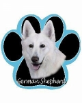 Dog Paw Mousepads - German Shepherd White