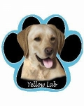 Dog Paw Mousepads - Labrador Yellow
