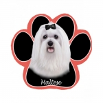 Dog Paw Mousepads - Maltese Puppy Cut