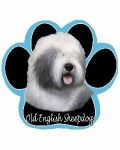 Dog Paw Mousepads - Old English Sheepdog