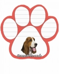 Dog Paw Notepads - Basset Hound