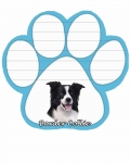 Dog Paw Notepads - Border Collie