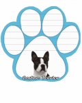 Dog Paw Notepads - Boston Terrier