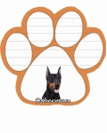 Dog Paw Notepads - Doberman