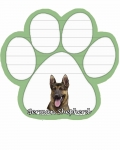 Dog Paw Notepads - German Shepherd