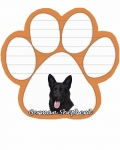 Dog Paw Notepads - German Shepherd Black