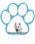 Dog Paw Notepads - German Shepherd White
