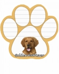 Dog Paw Notepads - Golden Retriever