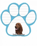 Dog Paw Notepads - Irish Setter