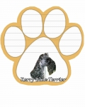 Dog Paw Notepads - Kerry Blue Terrier