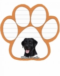 Dog Paw Notepads - Labrador Black