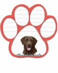 Dog Paw Notepads - Labrador Chocolate