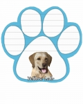 Dog Paw Notepads - Labrador Yellow