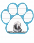 Dog Paw Notepads - Old English Sheepdog