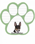 Dog Paw Notepads - Rat Terrier
