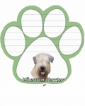 Dog Paw Notepads - Soft Coated Wheaten Terrier