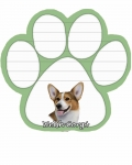 Dog Paw Notepads - Welsh Corgi