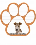 Dog Paw Notepads - Wire Fox Terrier