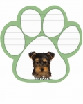 Dog Paw Notepads - Yorkie pup