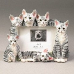 Dog Picture Frame - Silver Tabbies (4x6)