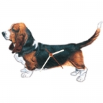 Dog Shaped Clock - Basset Hound