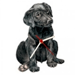 Dog Shaped Clock - Black Lab Puppy