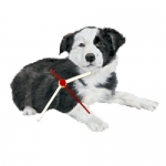 Dog Shaped Clock - Border Collie Puppy