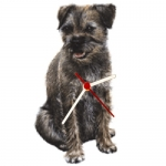 Dog Shaped Clock - Border Terrier