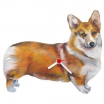 Dog Shaped Clock - Corgi