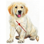 Dog Shaped Clock - Golden Retriever Puppy
