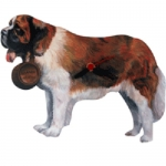 Dog Shaped Clock - Saint Bernard