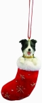 Dog Stocking Ornament - Border Collie