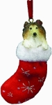 Dog Stocking Ornament - Collie