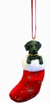 Dog Stocking Ornament - Labrador Black