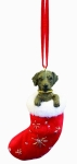 Dog Stocking Ornament - Labrador Chocolate