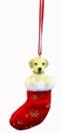 Dog Stocking Ornament - Labrador Yellow