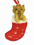 Dog Stocking Ornament - Yorkie Puppy Cut
