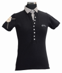 E COUTURE Ladies Chloe Layered Polo Shirt