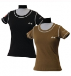 E COUTURE Ladies Hannover Short Sleeve Tee Shirt